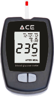 Result displayed on ACE Glucometer