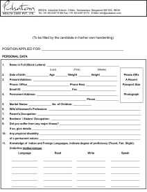 Click here to view Employment Application Form - User Fillable PDF Format Details